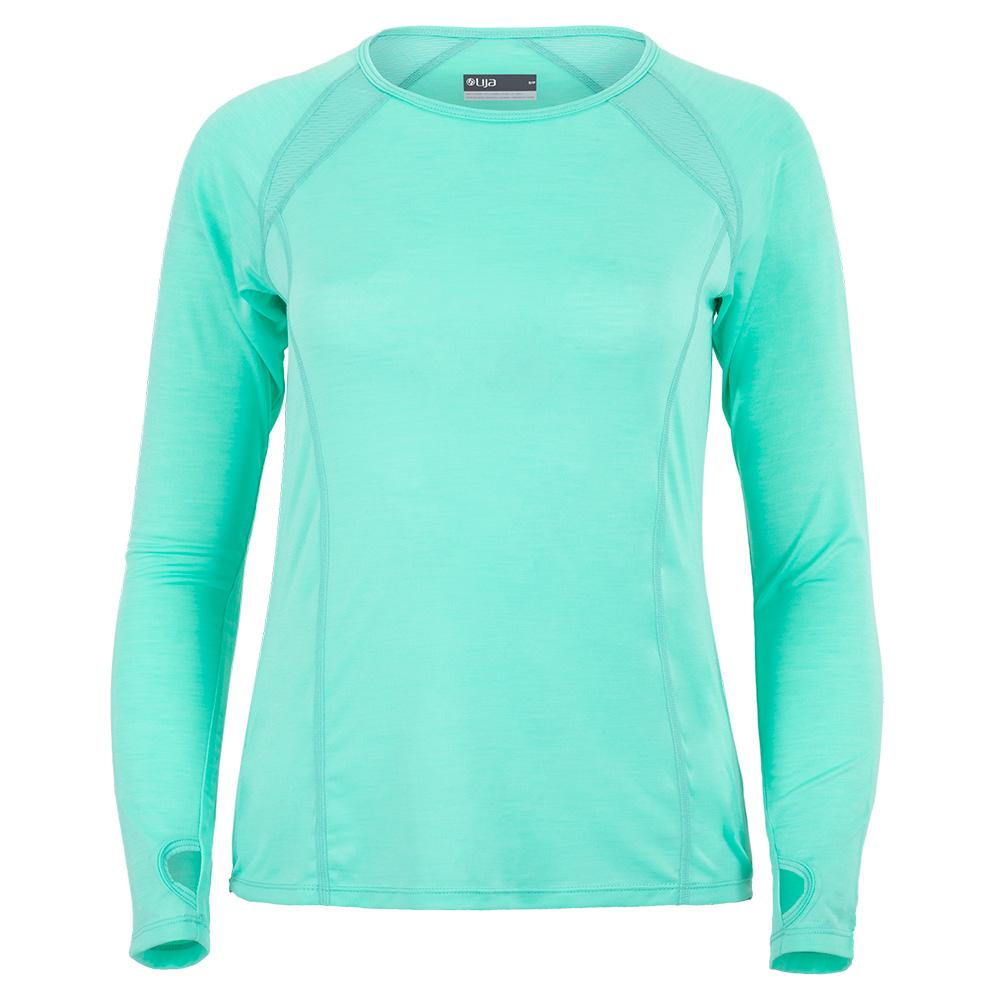 Women's Interval Long Sleeve Tennis Top Aqua
