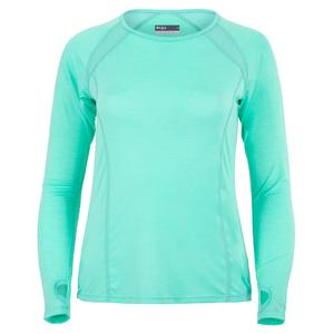 Women`s Interval Long Sleeve Tennis Top Aqua