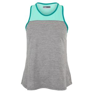 Women`s Prime Tennis Tank Heather Grey and Aqua