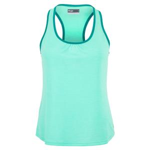 Women`s Tennis Tank Aqua and Peacock