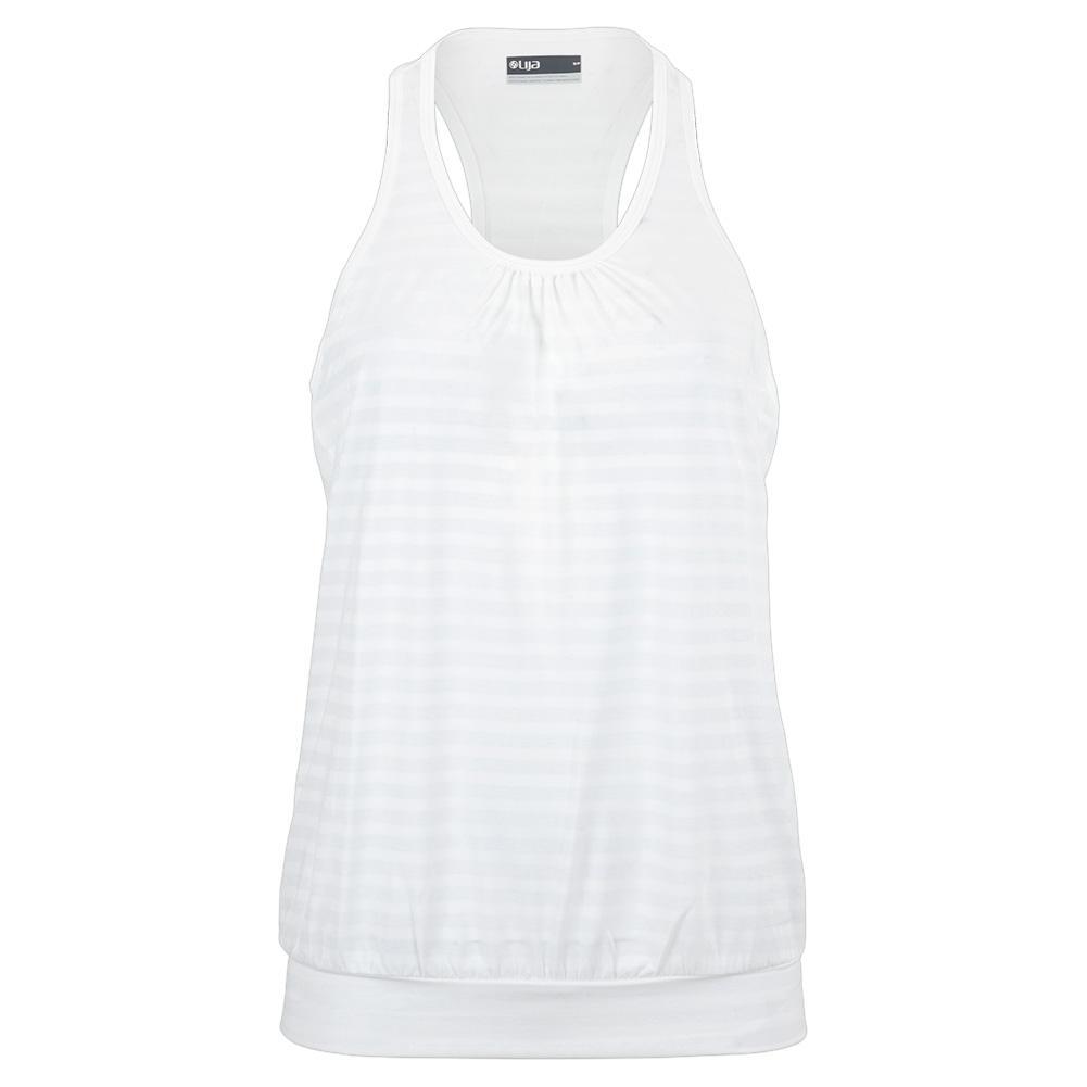 Women's Starburst Tennis Tank White