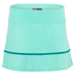 Women`s Hustle Tennis Skort Aqua and Peacock