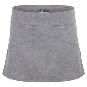 Women`s Angle Tennis Skort Heather Grey