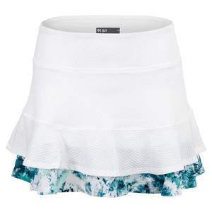Women`s Centre Point Tennis Skort White and Print