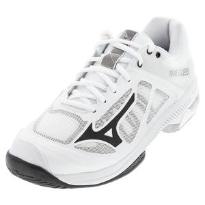Men`s Wave Exceed SL AC Tennis Shoes White and Black