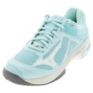 Women`s Wave Exceed SL AC Tennis Shoes Blue and White