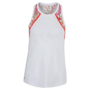 Women`s Teagan Tennis Tank Chalk and Habitat