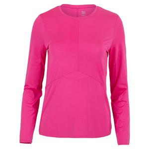 Women`s Dorian Long Sleeve Tennis Top Spiced Coral