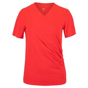 Women`s Aura Cap Sleeve Tennis Top Aurora