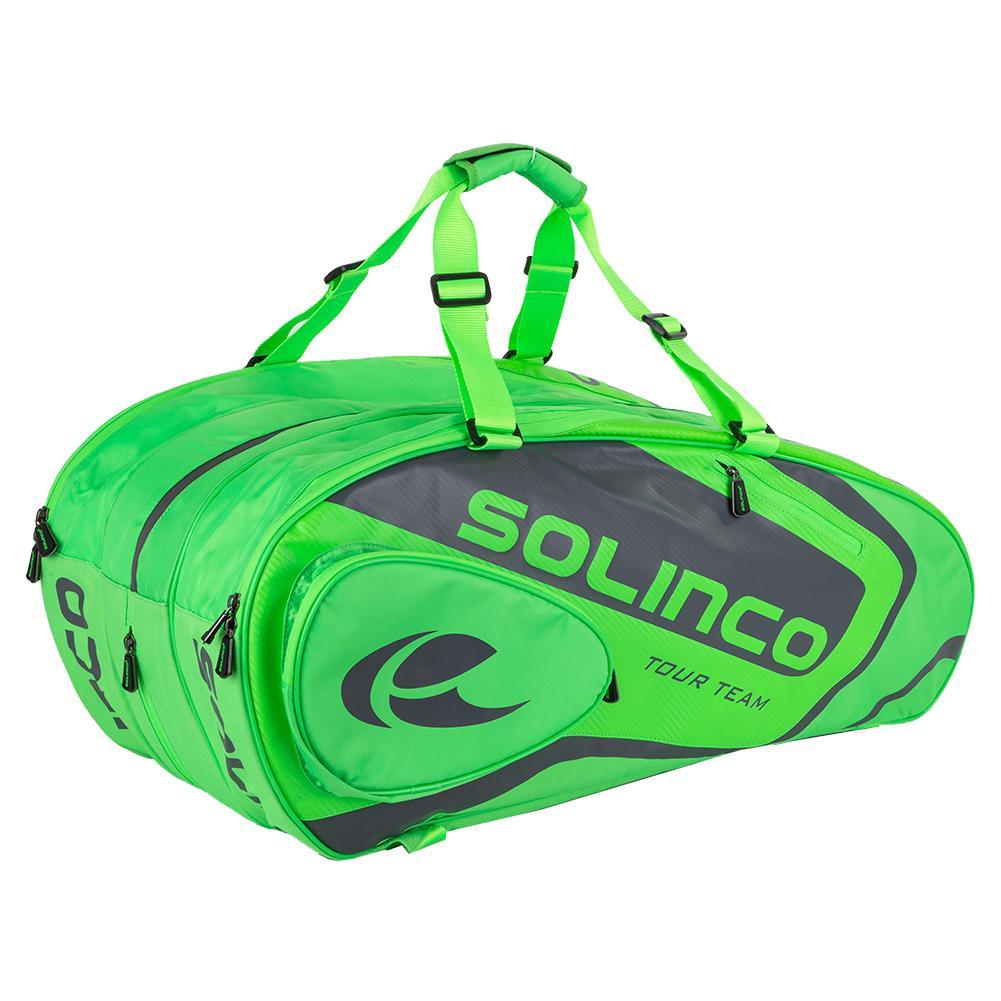 15- Pack Tour Tennis Racquet Bag Full Neon Green