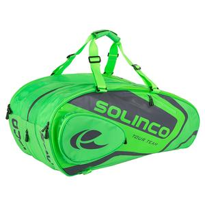 15-Pack Tour Tennis Racquet Bag Full Neon Green