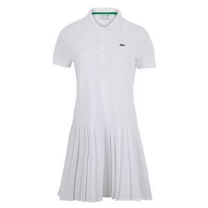 Women`s Roland-Garros Short Sleeve Pleated Tennis Dress
