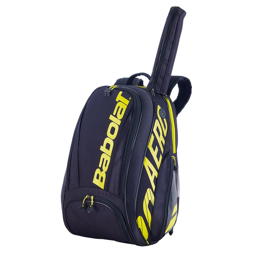 Pure Aero Tennis Backpack Black And Yellow