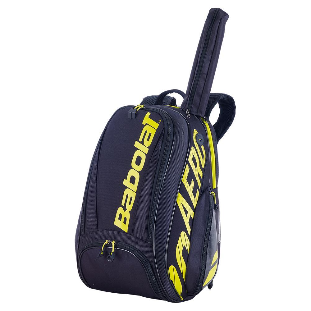 Pure Aero Tennis Backpack Black And Yellow