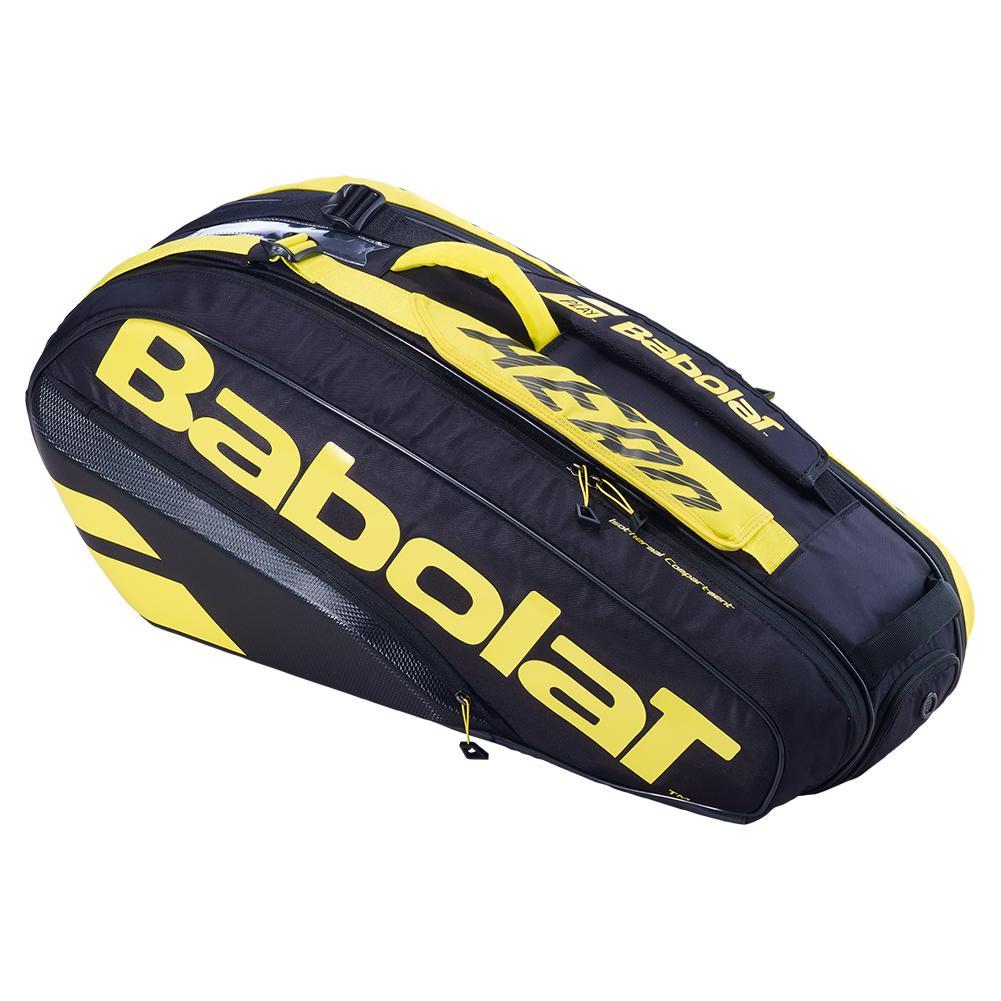 Pure Aero Rhx6 Tennis Bag Black And Yellow