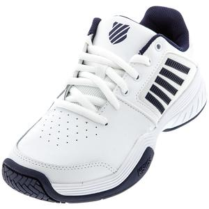 Men`s Court Express Tennis Shoes White and Navy