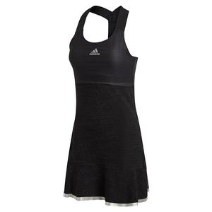 Women`s Glam On Y-Back Tennis Dress Black and Silver Metallic
