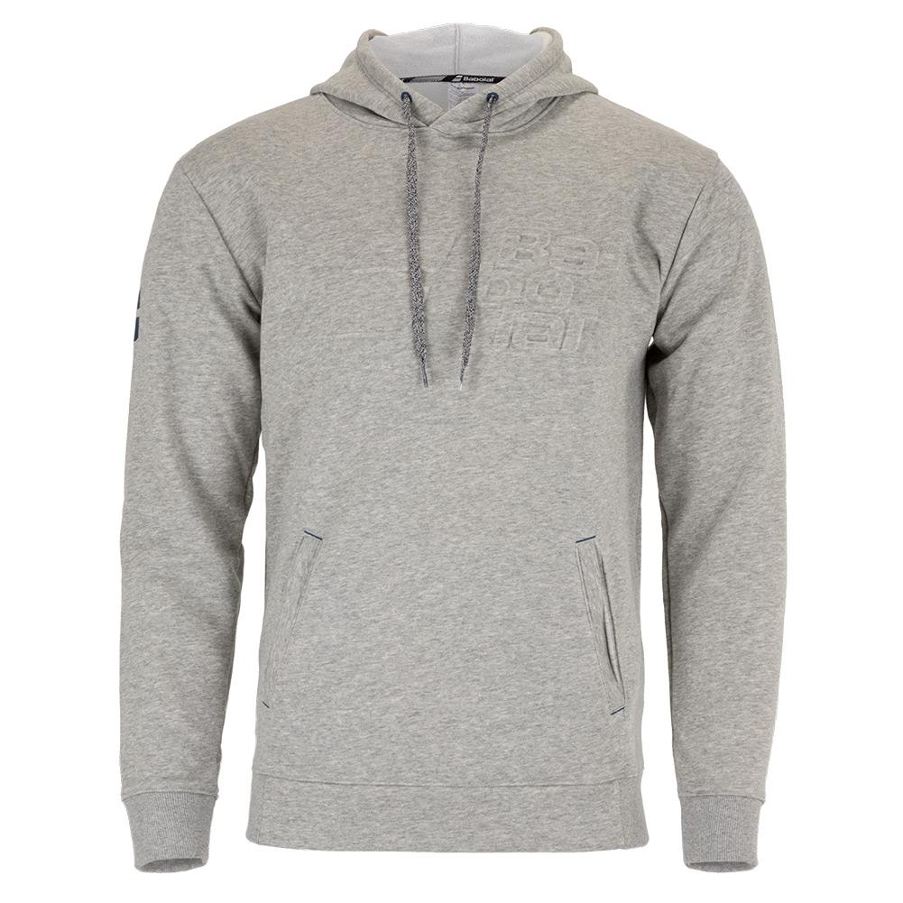 Men's Exercise Hooded Tennis Sweater High Rise Heather