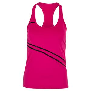 Women`s Angelika Tennis Tank Fuchsia and Black