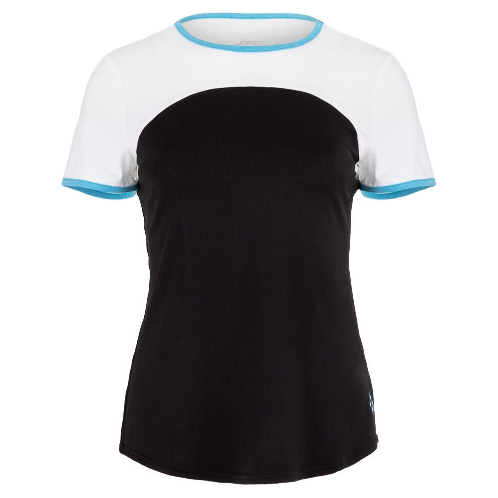 Women's Alley Tennis Top Black And White