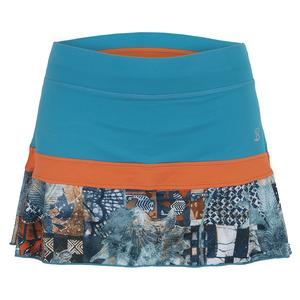 Women`s 13 Inch Tennis Skort Surfer and Tempo