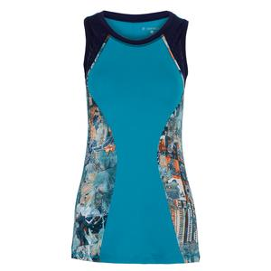 Women`s Full Back Tennis Tank Surfer and Tempo