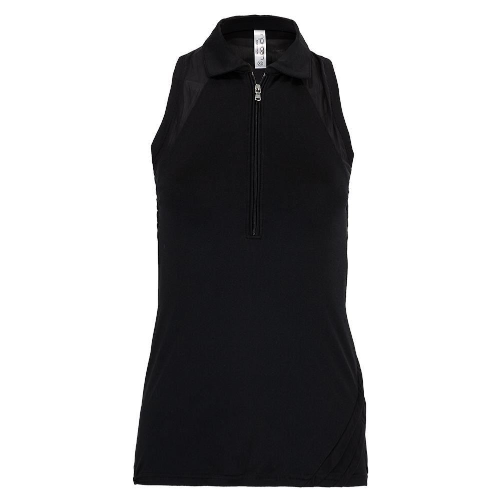 Women's Neisha Tennis Polo Tank Black