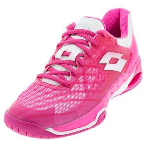 Women`s Mirage 100 Speed Tennis Shoes Glamour Pink and All White