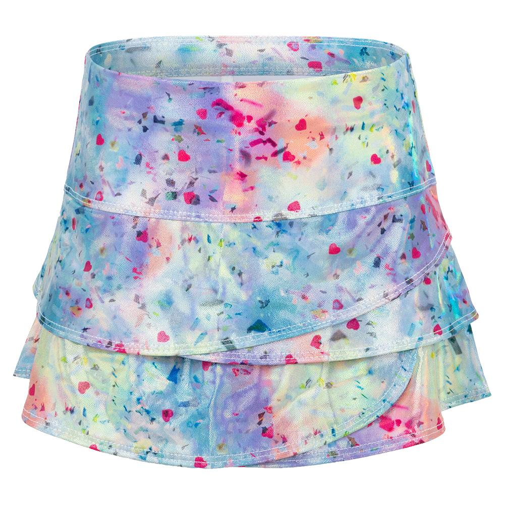 Girls ` Confetti Scallop Tennis Skort Multicolor