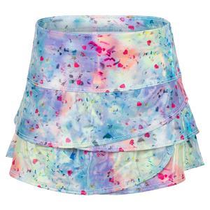 Girls` Confetti Scallop Tennis Skort Multicolor
