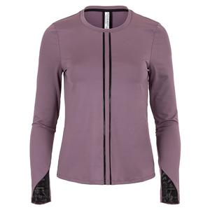 Women`s Harper Long Sleeve Tennis Top Deep Blush and Black
