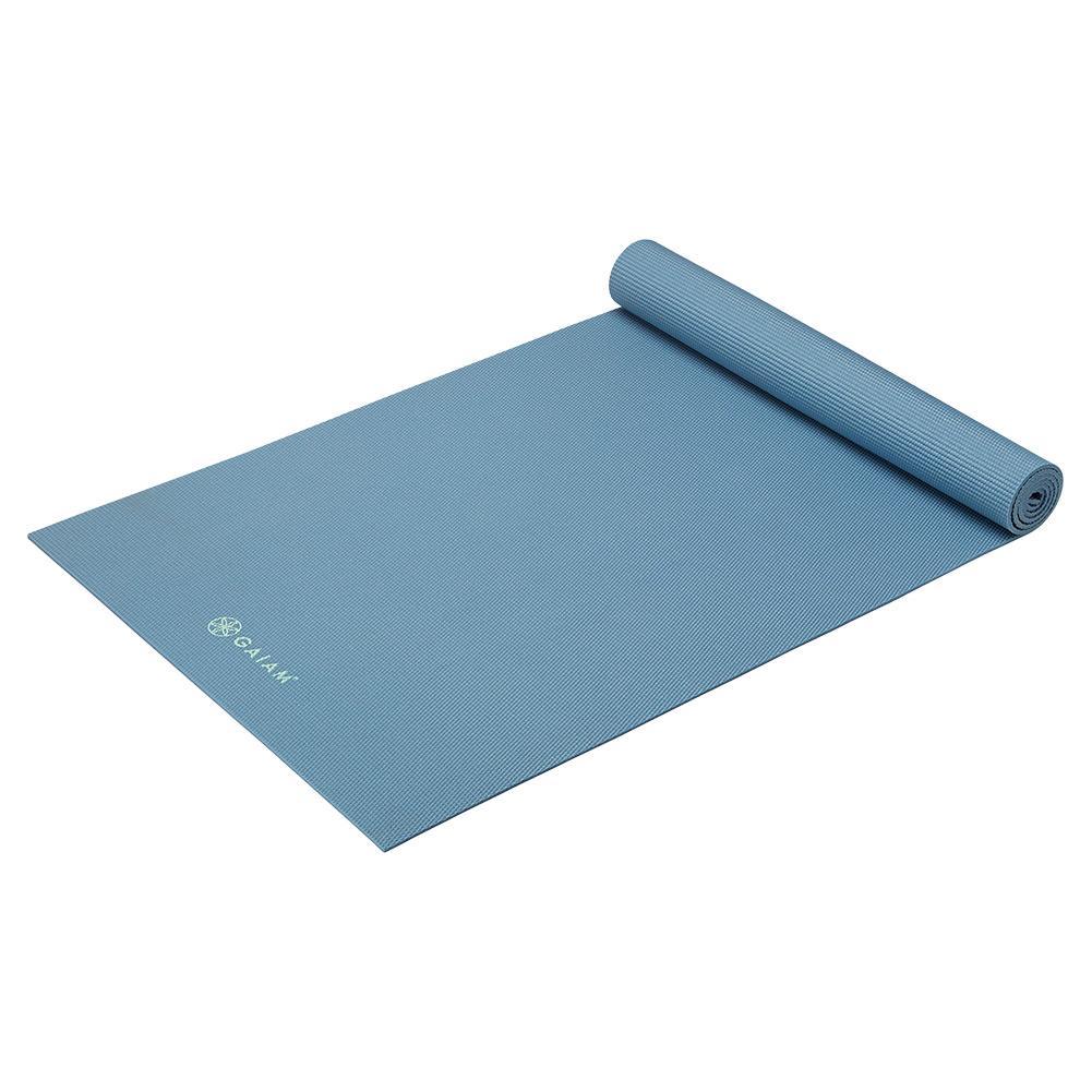 Classic Solid Color Yoga Mat (5mm) Blue Shadow