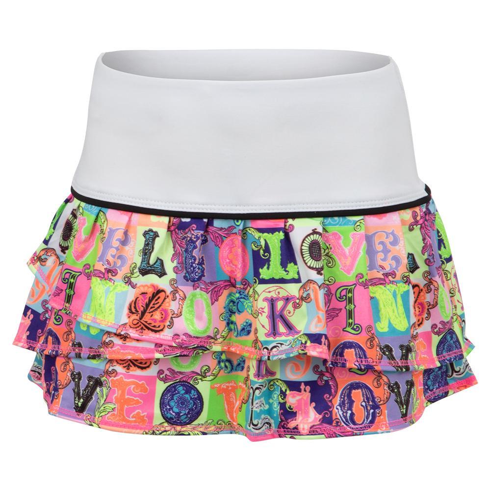 Girls ` Lucky Lane Tier Tennis Skort Multicolor