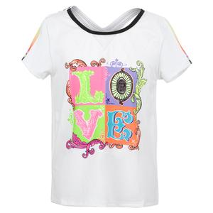 Girls` Lucky Lane Tennis Tee White