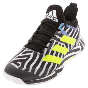Men`s adizero Ubersonic 4 Tennis Shoes Core Black and Solar Yellow
