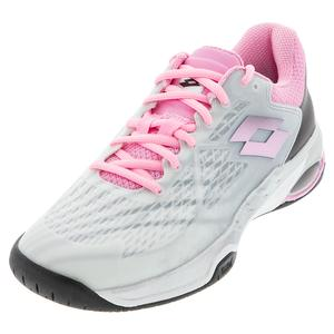 Women`s Mirage 100 Speed Tennis Shoes All White and Pink 920C