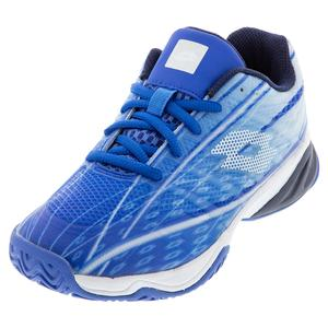 Juniors` Mirage 300 ALR Tennis Shoes Nebulas Blue and All White
