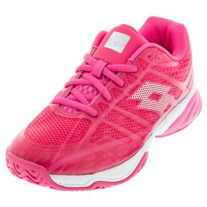 Juniors` Mirage 300 ALR Tennis Shoes Vivid Fuchsia and All White