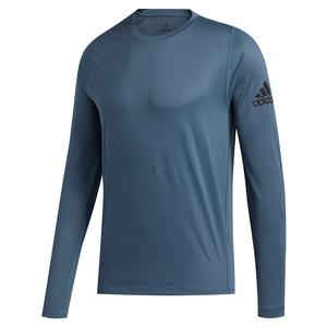 Men`s FreeLift Sport Solid Badge of Sport Long Sleeve Top Legacy Blue