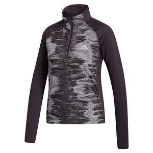 Women`s AEROREADY 1/2 Zip Training Pullover Noble Purple