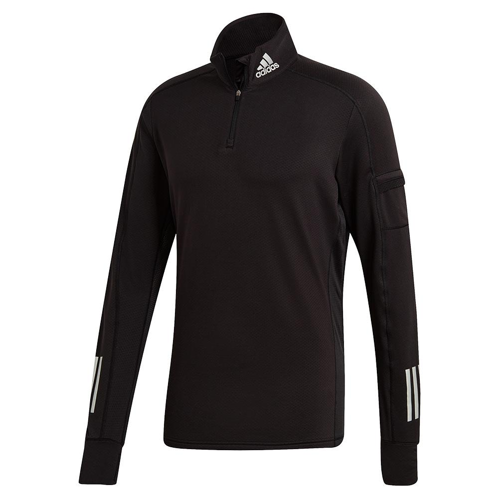 Men's Own The Run Warm 1/2 Zip Running Top Black
