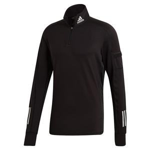 Men`s Own the Run Warm 1/2 Zip Running Top Black