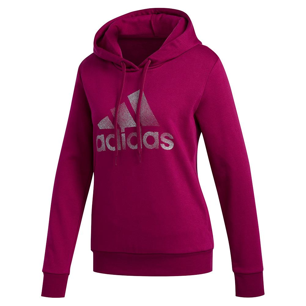 Women's Holiday Graphic Hoodie Power Berry