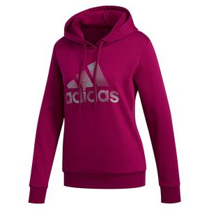 Women`s Holiday Graphic Hoodie Power Berry