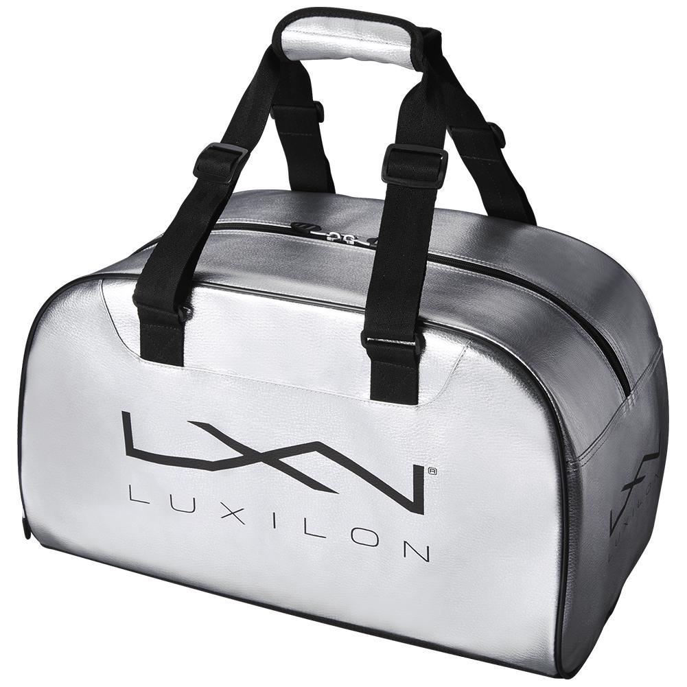 Lxn Tennis Duffle Bag Silver And Black