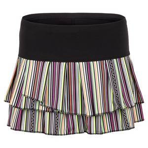 Women`s Hot Line Pleat Tier Tennis Skort Multicolor