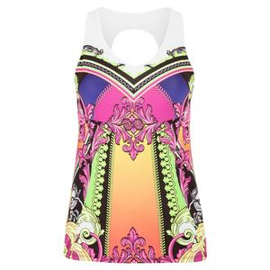 Women`s Rockin` Rococo Tennis Tank with Bra Multicolor