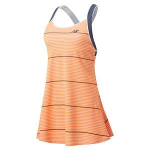 Women`s Printed Tournament Tennis Dress Citrus Punch
