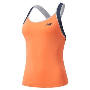 Women`s Tournament Tennis Tank Citrus Punch and Thunder