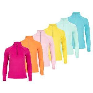 Women`s Mock Zip Tennis Top